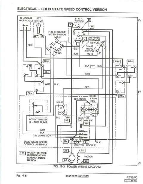 ez go golf cart wiring diagram gas engine and ezgo wiring