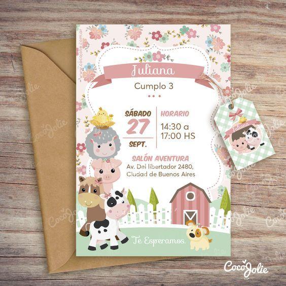 Kit Animalitos De La Granja Imprimible Personalizable