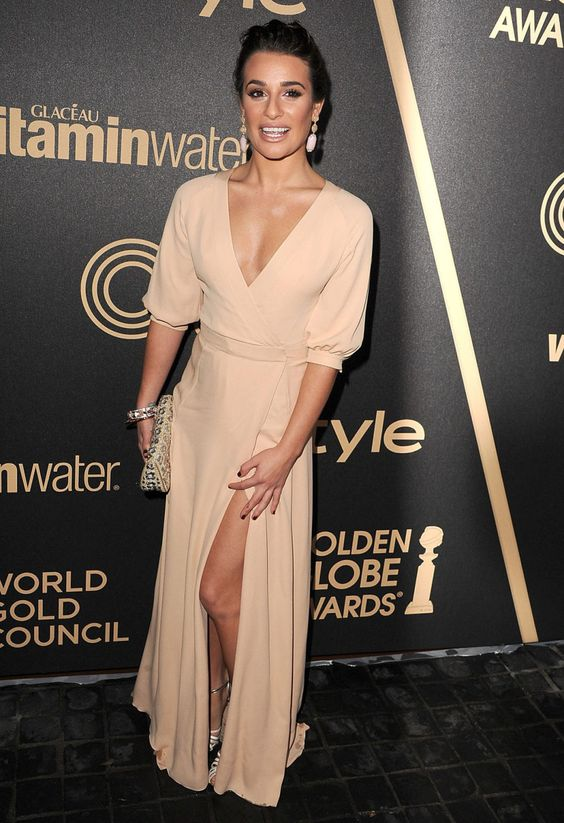 LEA MICHELE at 2013 HFPA and InStyle Miss Golden Globe Party in Los Angeles