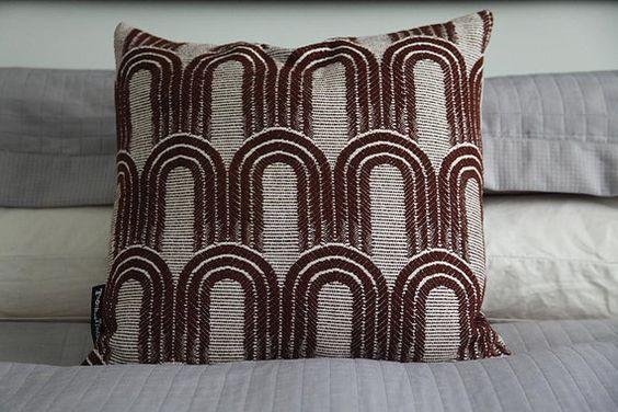 Art+Deco+Arches+in+brown+on+white+square+by+TroshandTreasure,+$60.00