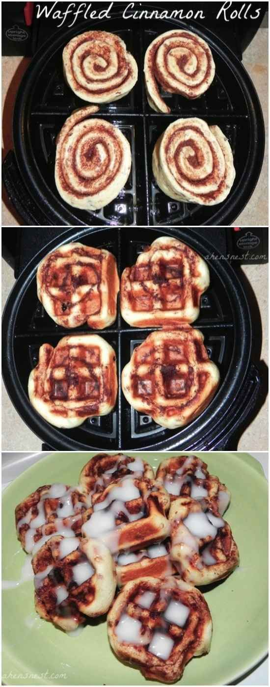 Cinnamon Rolls   17 Unexpected Foods You Can Cook In A Waffle Iron