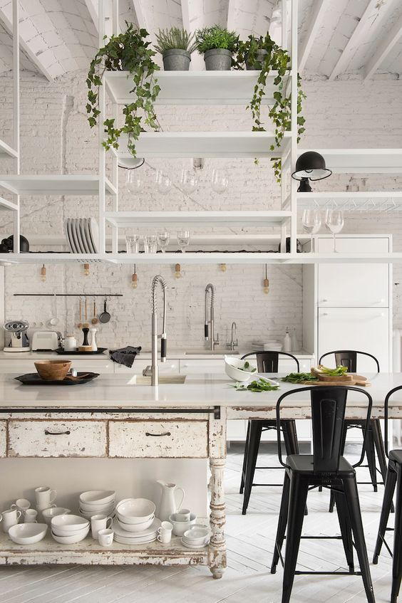 Bohemian Industrial Style Apartment In Barcelona   by marta castellano