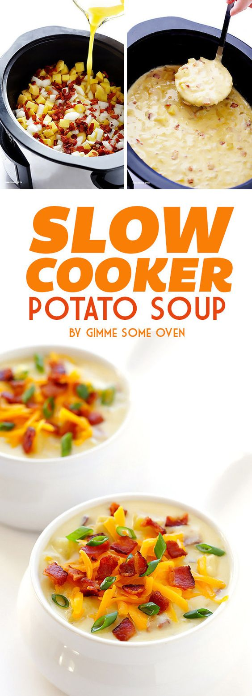 ... | Slow Cooker Potato Soup, Slow Cooker Potatoes and Potato Soup