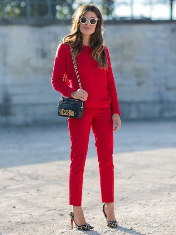 Le total look rouge Mango