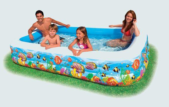rectangular inflatable pools kids pools pinterest