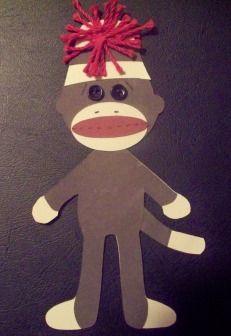 Sock monkey pattern.