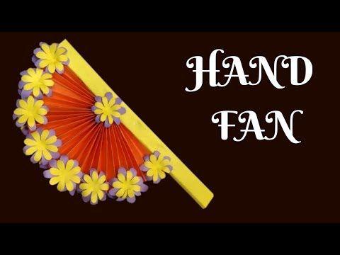 Diy Hand Fan With Color Paper Kagoj Diye Hater Kaj Hatpakha Banano Kagojer Hatpakha Youtube Hand Fan Haters Fan
