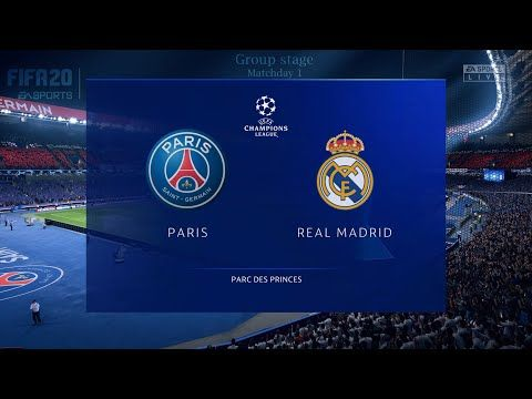 Psg Vs Real Madrid Fifa 20 Ps4 Gameplay Uefa Champions League Group Stage Youtube In 2020 Uefa Champions League Real Madrid Psg