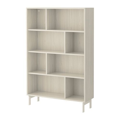 Valje shelf unit larch white livres legs and boxes for Ikea box shelf unit