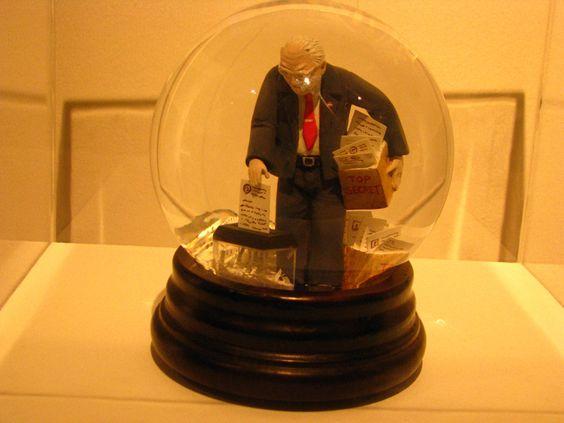 Cheney Shredding Secret Documents Snow Globe