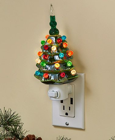 Retro Bubble Tree Night Lights Christmas Tree Night Light Ceramic Christmas Trees Retro Christmas Tree