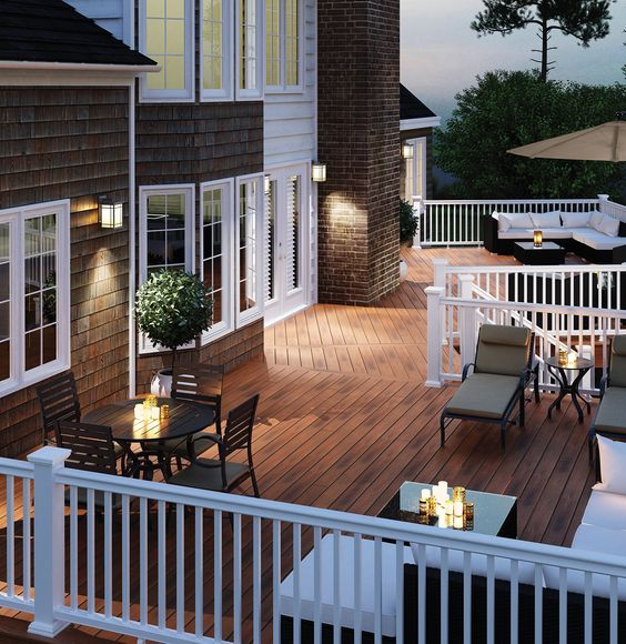 Outdoor Lighting Ideas And Options: Choose Your Deck Colors, Patterns
