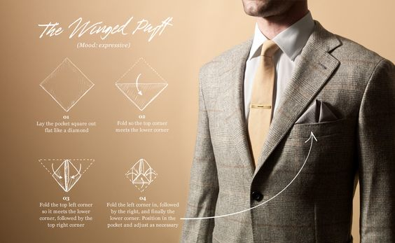 Pocket Square How-To // The Winged Puff