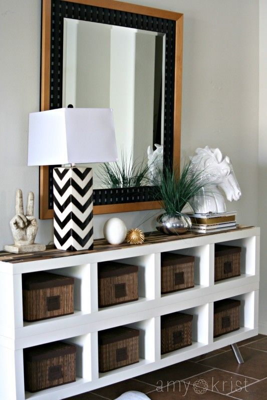IKEA Hack: Transforming Expedit Shelves with paint sticks! — Amy Krist:
