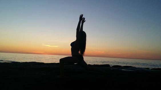 Me doing some yoga!