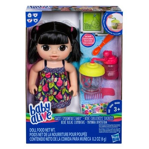 Baby Alive Sweet Spoonfuls Baby Doll Black Hair Target Baby