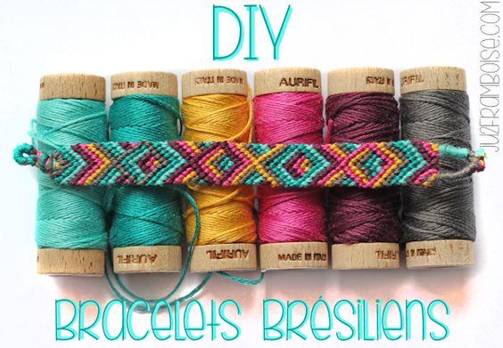 #DIY Bracelets Brésiliens #Tuto - les noeuds et les bracelets basiques | Ju2Framboise.com
