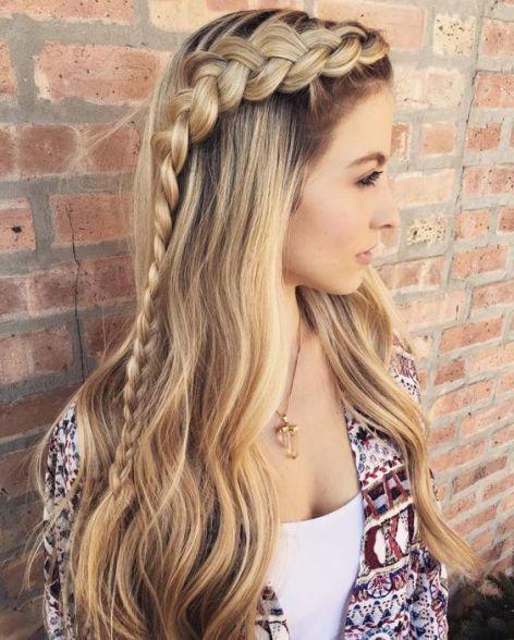 1001 Ideas De Peinados De Fiesta Atractivos Y Femeninos Peinados Con Trenzas Cosidas Peinados Con Trenzas Peinado Con Diadema