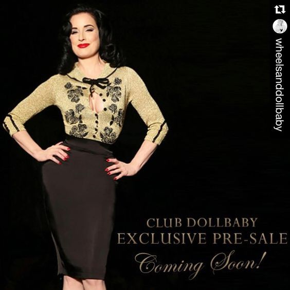 """#Repost @wheelsanddollbaby with @repostapp. ・・・ COMING SOON! Our most limited edition and exquisite Dita Cardigan release yet will be available for…"""