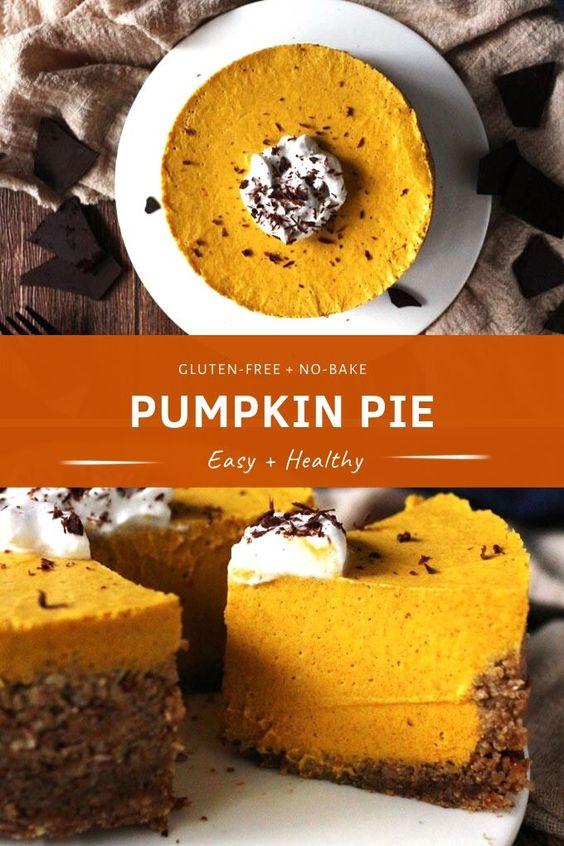 Vegan No-bake Pumpkin Pie