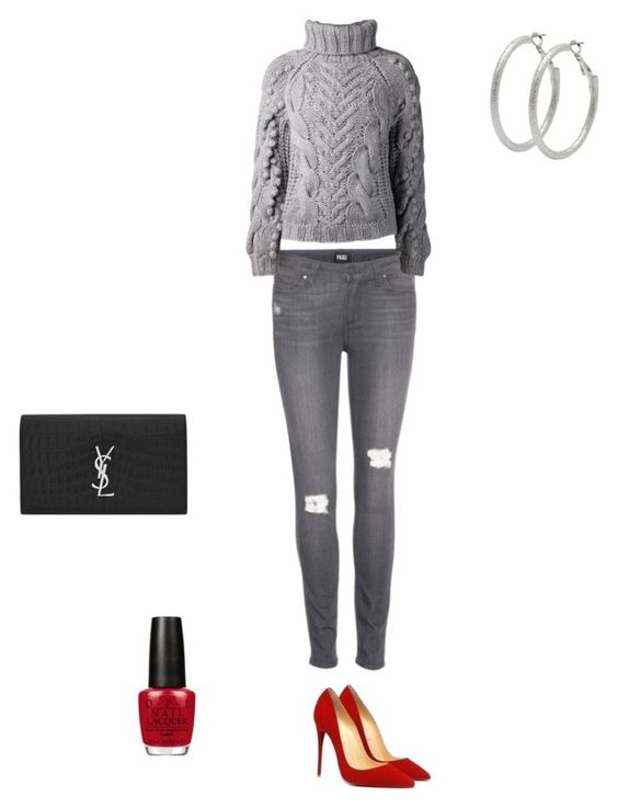 """Untitled #5"" by temra-taylor on Polyvore featuring Paige Denim, Barbara Bui, Yves Saint Laurent, OPI and M&Co"