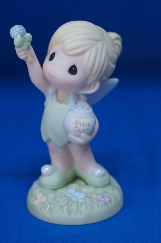 Tinker Bell Reach for the Stars Disney Precious Moments 2008 Figurine 720020 #PreciousMoments