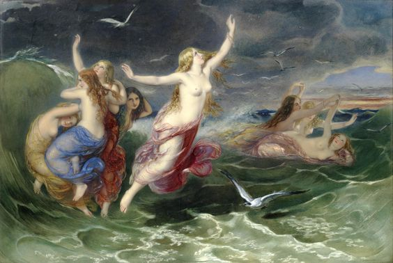 Books and Art: The Ocean Nymphs. Augustus Jules Bouvier (British,...