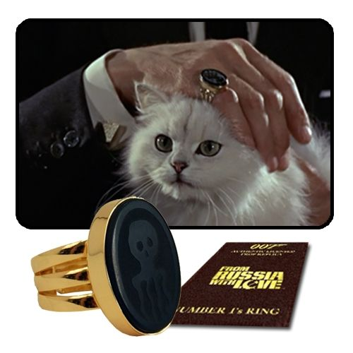 From the #JamesBond classic, From Russia with Love, Alter Ego #Comics brings you the #SpectreRing Prop Replica.  This officially licensed replica of the prop signet ring worn by the villainous #ErnstBlofeld features an 18ct gold plated setting and band with a black onyx semi-precious stone engraved with the Spectre motif.