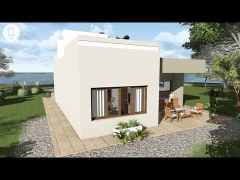 Casa Pequeña De 2 Dormitorios Y 1 Baño De 81 M2 Youtube Planos De Casas 3d Casas En Terreno Inclinado Planos De Casas