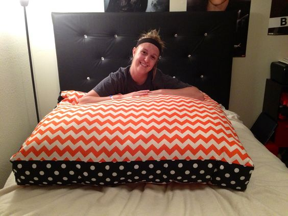 Karrahs Giant Floor Pillow DIY Pinterest Giant Floor Pillows Pill