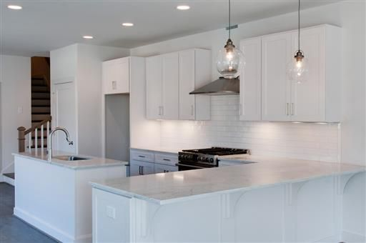 Custom Cabinets Marble Counter Tops Pendant And Undermount Lighting Create  Crisp Clean Look With Nashville Custom Cabinets.