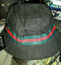 GUCCI Designer HAT Black GG Logo Diamond Fabric BUCKET Red Green Web Women XL http://ift.tt/1iFcTMU