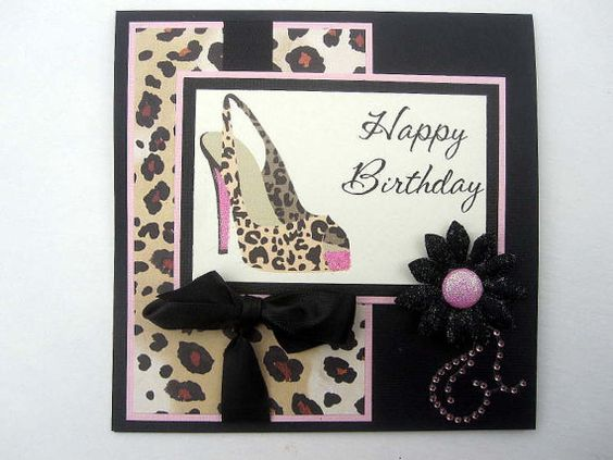 Birthday cards high heels sexy birthday leopard cheetah animal – Leopard Print Birthday Card