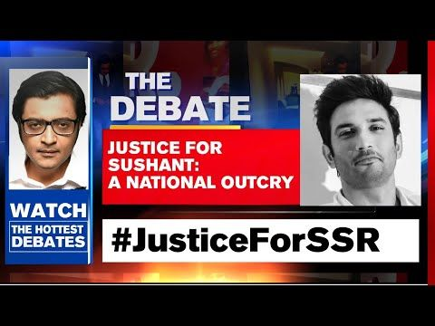 Justice For Sushant National Anger Against Lobbies In Bollywood The Debate With Arnab Goswami Youtube In 2020 Arnab Goswami Debate Anger