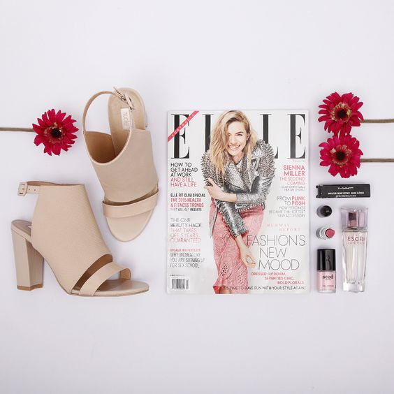 'Gypsy Water' by Nude combines edge with feminine chic! Pair these nude heels with a black leather jacket or a feminine dress, these beauties are surprisingly easy to style. Available at Styletread | #shoes #heels #elle #flatlay #magazine #fashion #style #pink