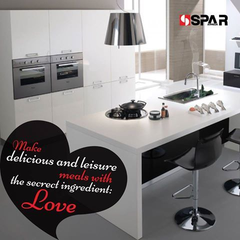 Simply Elegant and tasteful... ‪#‎ModernKitchen‬ by ‪#‎spararreda‬ http://bit.ly/1WsnCuD  #SmartKitchens #SpaciousKitchens #ElegantKitchens #SparArredaIndia #ItalianKitchens #PoojaDesai #KitchenDesign