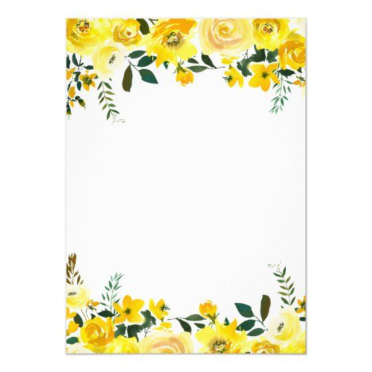 Summer Yellow Rose Floral Hand Lettered Wedding Invitation Zazzle Com In 2021 Hand Lettered Wedding Flower Frame Hand Lettered Wedding Invitations