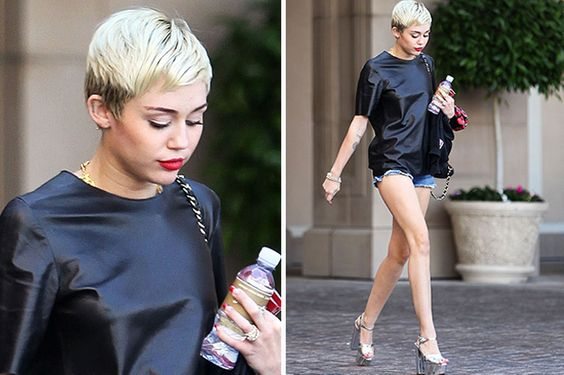 MileyCyrus leather top 1