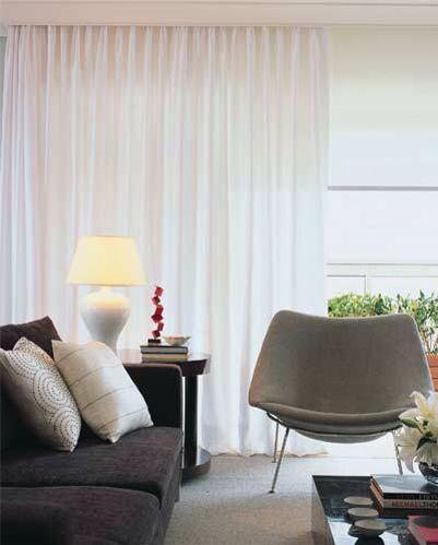 persiana rolo com cortina