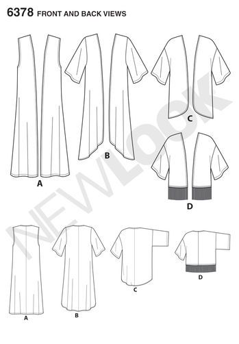 Misses' Easy Kimonos with Length Variations