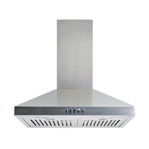 Winflo 30 In Convertible Stainless Steel Wall Mounted Range Hood Lowes Com Stainless Steel Range Hood Steel Wall Range Hood