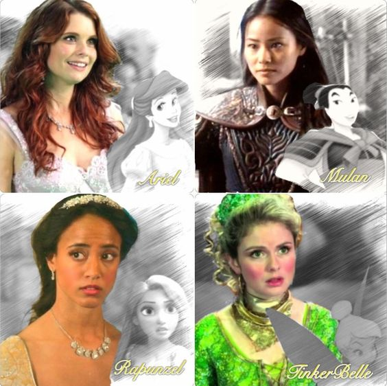 OUAT. Once Upon A Time. Ariel, Mulan, Rapunzel ...