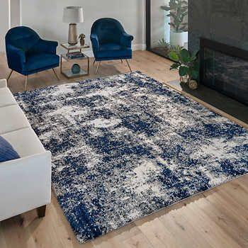 Thomasville Bali Cloud Plush Shag Garda Blue Blue Living Room Decor Blue Grey Living Room Blue Rugs Living Room