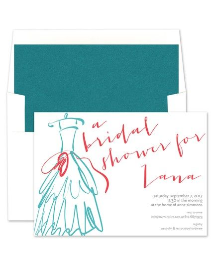 Wedding Dress Invitations - Kramer Drive (