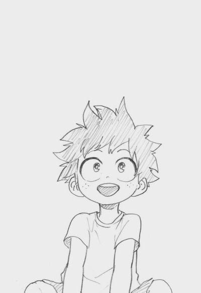 How To Draw Deku Step By Step : Akademie, Anime, Character, Drawing,, Drawings,, Sketch