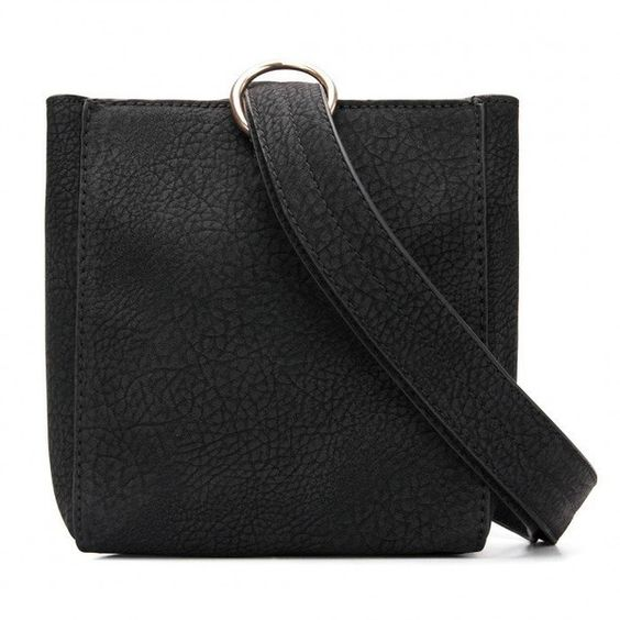 Yoins Square Mini Shoulder Bag in Black (24 CAD) ❤ liked on Polyvore featuring bags, handbags, shoulder bags, yoins, black, shoulder strap purses, mini handbags, mini purse, leather shoulder handbags and real leather handbags