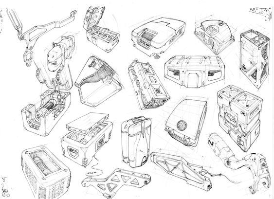 ArtStation - hard surfaces sketching practice, Giacomo Tappainer