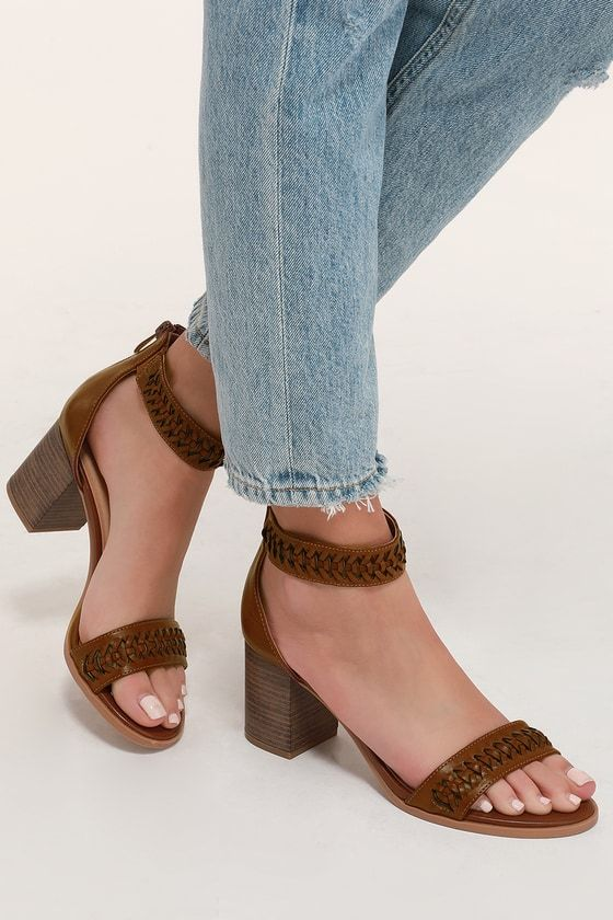 Cl By Laundry Juni Rich Brown Ankle Strap Heels Mod And Retro
