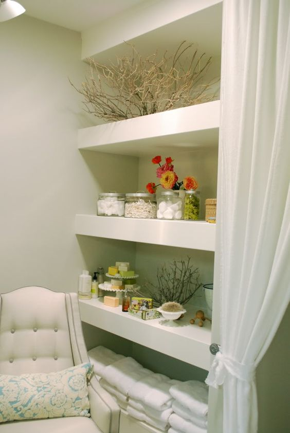 Inspiration for the shelves I want in the master bath