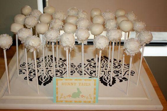 'Bunny Tail' Cake Pops!